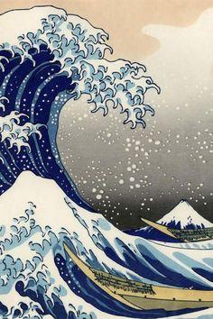 The Great Wave off Kanagawa by Katsushika Hokusai Print 19x13