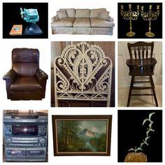 Online Estate Sales, Twin Headboard, Leather Recliner, Rattan, Wicker, Double Headband, Leather Club Chairs