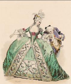 Modes Parisiennes, Règne De Louis XVI, d´après Moreau Le Jeune, 1777