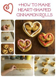 These heart-shaped cinnamon rolls are perfect for Valentine's Day or any day that you want to show your love through food! These homemade cinnamon rolls are easy to shape into hearts with this step by step tutorial. If you're looking for an easy homemade cinnamon roll recipe but have never made cinnamon rolls from scratch, this is a great place to start! Cinnamon Rolls From Scratch, Cinnamon Bun Recipe, Valentines Day Food, Roll Recipe, Instant Yeast, Healthy Treats, Dessert Recipes, Desserts, Baking
