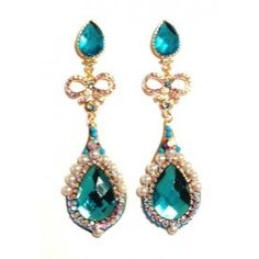 Ludora Boutique -  Maxi turquoise earring love these!!!