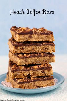 Delectable dessert bars loaded with milk chocolate toffee bits inside and out.