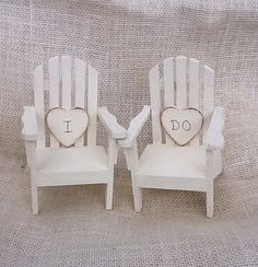 Beach Chair Adirondack Cake Topper Mr. & Mrs . by NauticalWeddings on Etsy