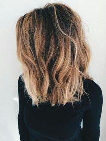 highlights, short hair, long lob