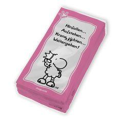 """Taschentücher für Prinzessinnen aus der Serie """"Krone richten"""" von sheepworld. http://sheepworld.de/shop/nach-Serien-Motive/Krone/Taschentuecher-KRONE.html"""