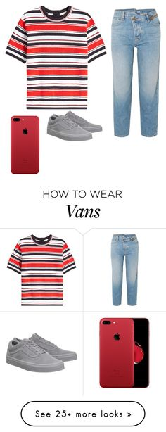 """""""Red❤"""" by sarahverbeek12 on Polyvore featuring Marc Jacobs, Monse and Vans"""