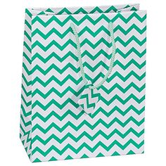 10 pcs Small Chevron Green Glossy Shopping Paper Gift Sales Tote Bags with Blank Message Tag 4 x 275 x 425 >>> You can get additional details at the image link.Note:It is affiliate link to Amazon. #throwbackthursday