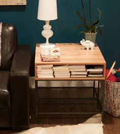 Myers Modern Oak End Table   Home Furniture   Kith & Kin   Scoutmob Shoppe   Product Detail