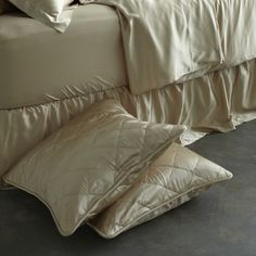 Silk Quilted Euro Sham Covers   Manito Luxury Silk Bedding - $149.00