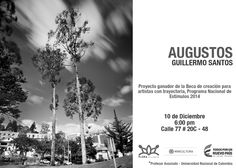 Flora ars+natura invita a la presentación de 'Augustos', de Guillermo Santos; artista, fotógrafo colombiano y Profesor Asociado de la Universidad Nacional de Colombia. Este proyecto fue seleccionado ganador de la 'Beca de creación para artistas con trayectoria' del Programa Nacional de Estímulos del @redesmincultura
