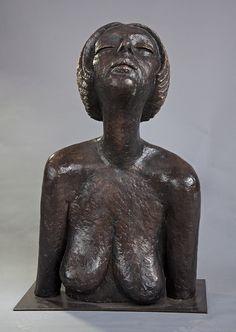 Olbram Zoubek Busta Marie bronz / bronze 59 cm, 1977 Architectural Sculpture, Contemporary Art, Art Gallery, Bronze, Statue, Beautiful, Art Museum, Sculptures, Modern Art