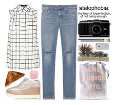 """""""Atelophobia"""" by emma-de-veirman ❤ liked on Polyvore featuring Yves Saint Laurent, STELLA McCARTNEY, Acne Studios, Lux-Art Silks, Only Mine and mmm"""