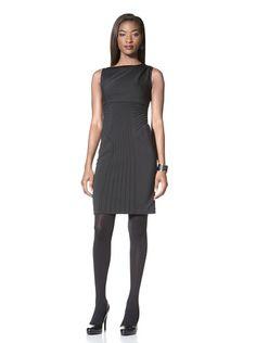 80% OFF Catherine Malandrino Women\'s Goddess Draped Sleeveless Dress (Noir)