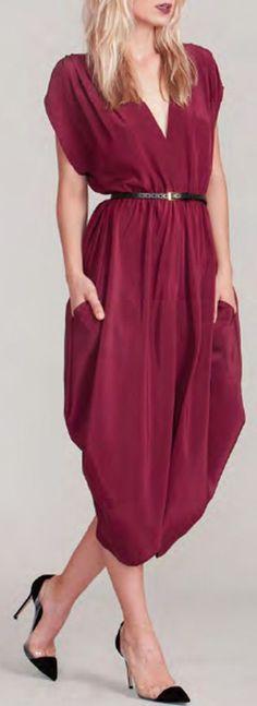 Cute & Comfy Wine Dress
