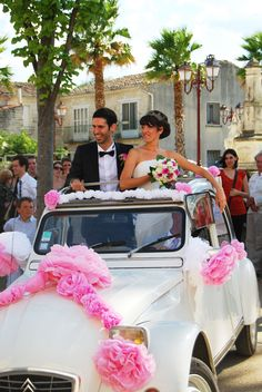 1000 images about deco voiture on pinterest wedding for Decoration 2cv mariage