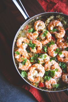 One Pot Thai Shrimp and Quinoa
