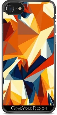 #GrabYourDesign - #Case for #Iphone #7/7S #Net #of #multicolored #triangles - by #pASob http://www.grabyourdesign.com/product.php?product=14372
