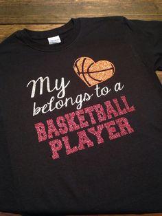 d2554187b50 Items similar to My Heart Belongs To A Basketball Player T-Shirt
