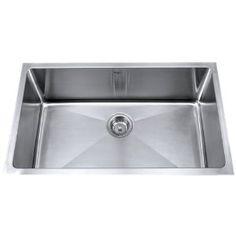 Kraus KHU100-32 32-Inch Undermount Single Bowl 16 gauge Kitchen Sink, Stainless Steel