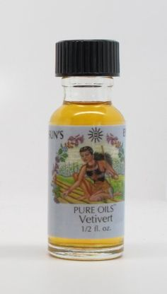 Vetivert - Sun's Eye Pure Oils - 1/2 Ounce Bottle by Sun's Eye Pure Oils. $8.29. Combining the pure scent of an extract with the convenience and staying power of a body grade oil.. 1/2 ounce bottle of high quality Sun's Eye brand oil.. Sun's Eye Oil made from aromatic herbs, blossoms, leaves, spices, woods, resins and essential oils.. Vetivert - Love, Luck, Money. Use as a perfume, mix it with other cosmetics, or place it directly in your aroma or oil diffuser.. Vetivert - Love,...