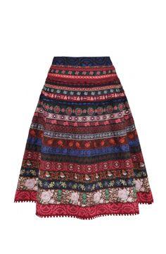 Lena Hoschek ribbon skirts Juri Skirt redberry