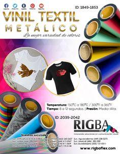 EL vinil textil metálico de rigba es de fácil corte y depilado, con un acabado brillante metalizado que le dará a todas tus prendas ese toque especial. Textiles, Box, Home, Embroidered T Shirts, Glow, Innovative Products, Vinyls, Decorations, Snare Drum