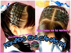 PEINADOS INFANTILES / TEJIDO CANASTA / BRAID WITH RIBBON - YouTube