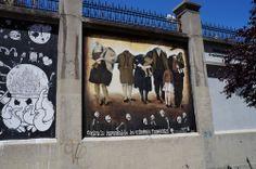 """Proyecto """"Muros"""".#ArteTabacalera Promoción del Arte #ArteUrbano #StreetArt Madrid Día de la Inauguración. #Arterecord 2014 https://twitter.com/arterecord"""