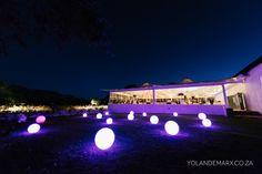 Glowing balls at this stunning Brede en Lust wedding Destination Wedding, Wedding Venues, South African Weddings, Lust, Real Weddings, Glow, Lights, Balls, Beautiful