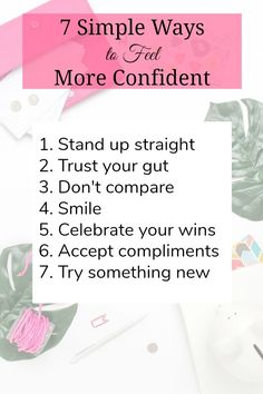 7 simple ways to feel more confident, instantly. We all can use a little confidence boost every now and then. 7 simple ways to feel more confident, instantly. We all can use a little confidence boost every now and then. Building Self Confidence, Confidence Boosters, Self Confidence Quotes, How To Gain Confidence, Def Not, Self Improvement Tips, Self Development, Personal Development, Leadership Development