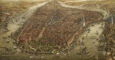 Isla Manhattan (NY) 1874.   Imagen en Alta Resolución. (Vía Biblioteca  del Congreso)