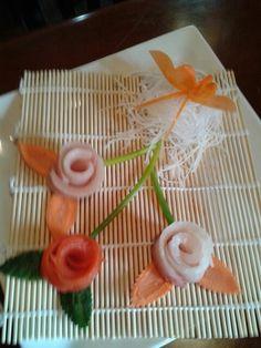 More sashimi flowers