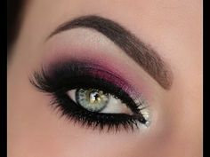 Holiday Berry Silver & Crystal Smokey Eye Tutorial #eyes #smokeyeyes #berrysilver #tutorial #video #eyeshadow #eyemakeup - bellashoot.com