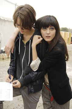 Spring 2008 Ready-to-Wear  Karl Lagerfeld - Backstage  Freja Beha Erichsen and Irina Lazareanu.