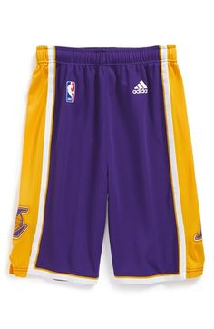 adidas 'Swingman Road - Los Angeles Lakers' Shorts (Big Boys)