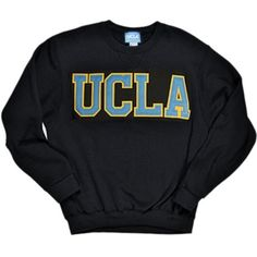 UCLA Bruins Classic Crewneck Sweatshirt - Black from Ucla Store. Shop more products from Ucla Store on Wanelo. College Shirts, College Outfits, College Sweatshirts, College Goals, Sweatshirt Outfit, Crew Neck Sweatshirt, Cute Comfy Outfits, School Fashion, Sweatshirts