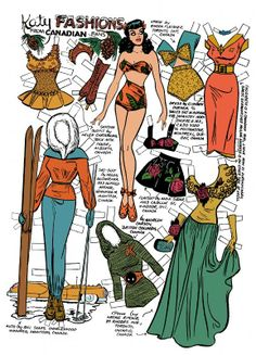 Katy Fashions from Canadian fans *** Paper dolls for Pinterest friends, 1500 free paper dolls at Arielle Gabriel's International Paper Doll Society, writer The Goddess of Mercy & The Dept of Miracles, publisher QuanYin5