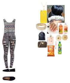 """""""school outfit"""" by foodislyfe ❤ liked on Polyvore featuring Glamorous, AndMesh, Jennifer Lopez, Chanel, MICHAEL Michael Kors, Asya Malbershtein, claire's and TOMS"""