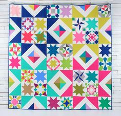 Quilt kit available here: http://www.craftsy.com/supplies/kit/boundless-solids-starlight-sampler-by-amy-gibson-quilt-kit/2016?rceId=1452995801028~ybefuk1c   Pattern available in my shop summer 2...