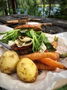 Retkiruokaa, uudensadon perunat ja porkkanat