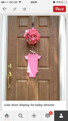 Nice door display for baby shower