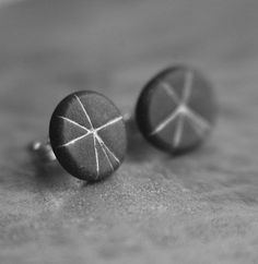 Starburst post earrings in Slate by jibbyandjuna on Etsy, $18.00