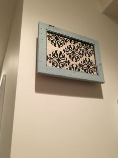 Door Bell Chime Cover Made From Shadow Box Burlap And