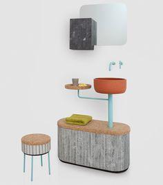 Rui Pereira + Ryosuke Fukusada Slice Tile Sashi Bathroom Collection: deconstructed bathroom idea.