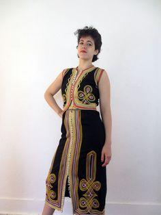 60's Vintage Hippie Boho Embroidered Dress by PaisleyBabylon