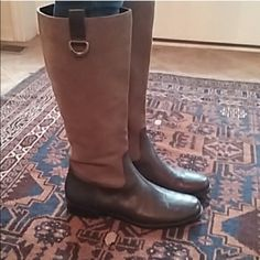 Ralph Lauren Riding Boots Leather and suede boots in perfect condition. Reposh-- they were too big for me :((( Ralph Lauren Shoes Heeled Boots
