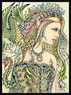"""Dragon Fairy Tangle"" par Norma Burnell"