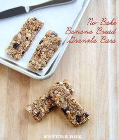 No-Bake Banana Bread Granola Bars - NatureBox Blog