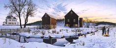 "Steven R. Kozar Limited Edition Print: ""Winter Evening Reflections ..."