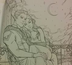 Official pictures from  A Court of Thorns And Roses Coloring Book